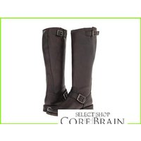 Frye Smith Engineer Tall フライ Boots WOMEN レディース Charcoal Pebbled Antiqu