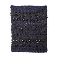 BCBGMAXAZRIA Crystal Crochet Cowl ビーシービージーマックスアズリア Scarves WOMEN レディース Navy