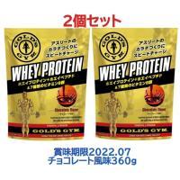 GOLD'S GYM(ゴールドジム)ホエイプロテイン チョコレート風味 360g