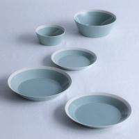 プレート dishes 230 plate 2枚 ペア pistachio green 木村硝子店×イイホシユミコ (15680) キッチン、台所用品