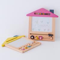 お絵かき ハウス  1歳 2歳 3歳 男の子 女の子 クリスマス プレゼントおえかき 木のおもちゃ ハウス  セット おえかきせんせい らくがき  誕生日 送料無料