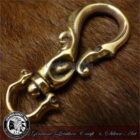 キーチェーン/キーホルダー/ウォレットチェーン/ブラス/真鍮/財布/レザーウォレットと相性抜群/キーフック/bkey-219