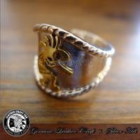 シルバーリング/指輪/シルバー925/ブラス/真鍮/ネイティブスタイル/リング/フリーサイズ/ring-go1017086