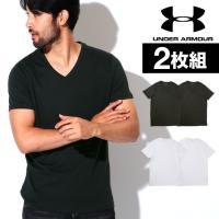 Tシャツ メンズ 2枚セット ブランド アンダーアーマー 半袖 Vネック CHARGED COTTON ブランド UNDER ARMOUR