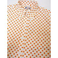 Dry Bones[ドライボーンズ] ボタンダウンシャツ ドット柄 半袖 DS-2166 Dot Print BD Shirt (ORANGE)