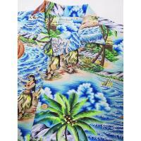 SUN SURF[サンサーフ] アロハシャツ SS37253 スペシャルエディション HULA MA KAI 洋柄 (NAVY)