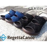 RegettaCanoe/シースルーレースサンダル/ミュール/5cmウェッジヒール/レディース/CJ...