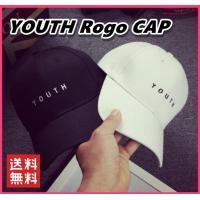 シンプルで「YOUTH」のゴロがワンポイント!  韓国ファッションがお好きな方に大人気のシンプルカー...