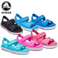 313c85ef4eae23 クロックス crocs クロックバンド 2.0 サンダル PS crocband 2.0 sandal PS キッズ サンダル シューズ 子供用  [H][C/A] 面ファスナーを使用したストラップで簡単な着脱 ...