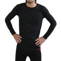 WARM TOUCH 吸湿発熱中厚タイプソフト保温クルーネック長袖Tシャツ M-LL