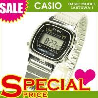 カシオ CASIO レディース腕時計 デジタルウォッチ 海外モデル LA670WA-1U シルバー ...