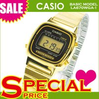 カシオ CASIO レディース腕時計 デジタルウォッチ 海外モデル LA670WGA-1  ゴールド...