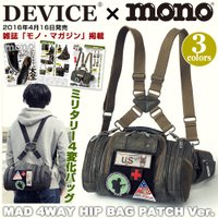 DEVICE MAD 4way ヒップバッグ パッチVer.