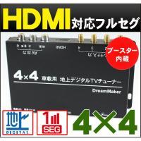 ●4チューナー×4アンテナ ●高感度フィルムアンテナ ●HDMI出力端子装備 ●自動中継局サーチ機能...