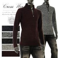 ◆説明:MIXデザインのベーシックなニットセーター。 胸元のジップを開けたラフ感と、閉めてスタイリッ...