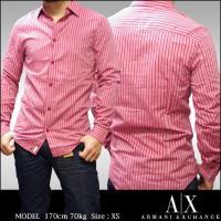 A|X Armani Exchange アルマーニエクスチェンジ メンズ ストライプ ボタンシャツ ...