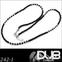 DUB Collection 204 ブラックスピネル ネックレス チャーム付き メンズ レディース...