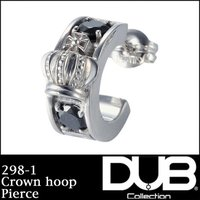 DUB Collection 298-1(ブラックCZ) ピアス Crown hoop クラウン フ...