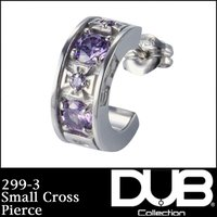 DUB Collection 299-3(ライトアメジストCZ) ピアス Small Cross ス...