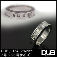 DUB ジュエリー リング 157-2 シルバー ホワイト アクセサリー メンズ レディース ダブジ...