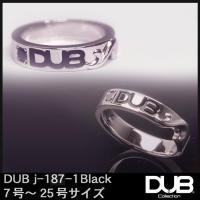 DUB Collection j187-1 ブラック シルバー リング RING ダブジュエリー シ...