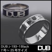DUB Collection j193-1 ブラック シルバー リング RING ダブジュエリー シ...