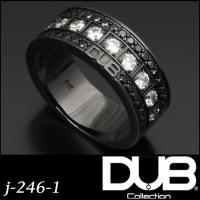 DUB Collection j-246-1(BK) Bicolor Ring メンズ レディース ...