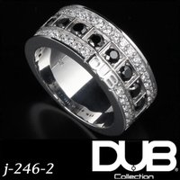 DUB Collection j-246-2(WH) Bicolor Ring メンズ レディース ...