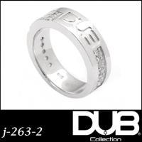 【送料無料】 DUB リング メンズ レディース ジュエリー 263-2 (WH) シルバー アクセ...