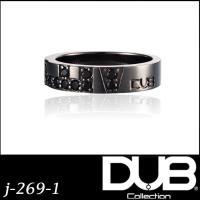 DUB Collection j-269-1(BK) LUV Ring ペアリング メンズ シルバー...