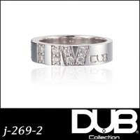 DUB Collection j-269-2(WH) LUV Ring ペアリング レディース シル...
