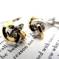 シンプルなゴールドとシルバーメッキの結い型カフス。美しいコントラストで袖元を飾ります。 SIZE:約...