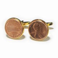 アメリカンの1セントコインをカフスボタンに仕上げました 1セントコインは拾うと良いことがあると言われ...