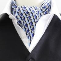 ブルーのグラデーション地にウェーブとダイヤ柄が並んだ、スタイリッシュなデザイン!!襟元に素敵なアクセ...