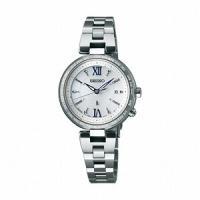 SSQV013 SEIKO LUKIA ソーラー 電波時計 lady's watch 上品な「つやめ...