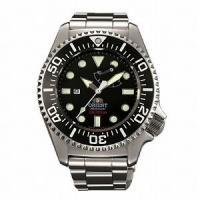 ORIENT 300m飽和潜水用ダイバーズ WV0101EL Men's watchは、ステンレス素...