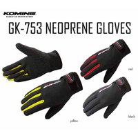 【ネコポス対応】【KOMINE】GK-753 ネオプレングローブ 簡易防水 防風 保温 ツーリング ダイバー素材 コミネ バイク用品