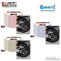 〔MDF〕ストロボ リムストライプ <6mm幅> 《全3種》 リムステッカー エムディーエフ タイヤ ホイール ホイル オートバイ 二輪 バイク用品