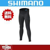 シマノ(SHIMANO)  前面を防風素材、肌面は起毛を採用することで冬のライドでも暖かなタイツ。 ...