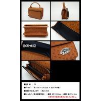 エミリッドバハマ 2WAY バッグ 財布一体型 ハンド/ショルダー オーストリッチ風 EMILLID BAHAMA|daiichigolf|02