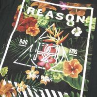 REASON CLOTHING リーズン Tシャツ メンズ HANA FLORAL BOX TEE 秋冬