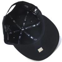 ニューエラ スナップバックキャップ メンズ 帽子 コラボ NEW ERA×PLAY BOY 9FIFTY プレイボーイ メタルプレート ブラック 2017 秋冬 新作