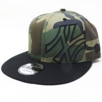 ニューエラ スナップバック キャップ 帽子 NEW ERA 9FIFTY バタリオン ニューヨーク・ヤンキース ウッドランドカモ×ブラック