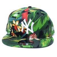 ニューエラ スナップバック キャップ 帽子 NEW ERA 9FIFTY ボタニカル グリーン ニューヨーク・ヤンキース ボタニカル×ホワイト (11557254)