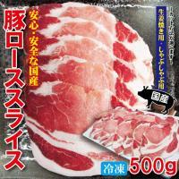 国産豚ローススライス 500g 冷凍 生姜焼き用・しゃぶしゃぶ用 カット方法が選べます 100g当/119.8円+税 豚肉 焼肉 豚しゃぶ cut