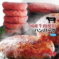 送料無料 肉汁たっぷり国産牛100%生ハンバーグ 130g×2個 2セット購入でプラス3個おまけ ステーキ 焼肉 黒毛 国産牛肉