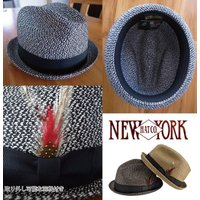 NEW YORK HAT  ニューヨークハット ミックススティンジー ストローハット 麦わら帽子 MIX STINGY HAT スティンギー 男女 RS2269 プレゼントにも