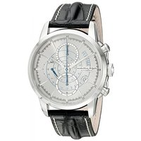 ■商品詳細 Silver chronograph dialBlack leather strapan...