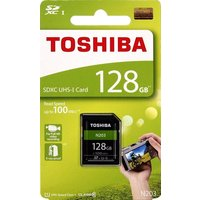送料無料 TOSHIBA 東芝 128GB N203 SDXC UHS - Iカード U1クラス10 SDカードメモリカード100MB/s thn-n203N1280a4[並行輸入品]