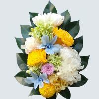 お悔み プリザーブドフラワー仏花 大菊2輪 仏壇花 枯れない仏花 お供えの花